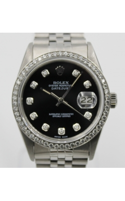 Pre-Owned Timepieces Rolex Date-Just 16030S Custom Bezel product image