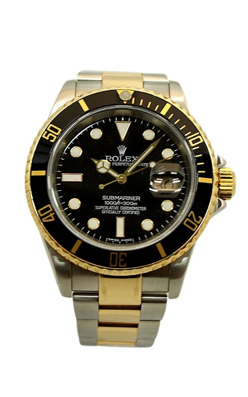Pre-Owned Rolex Submariner Date 18k Yellow Gold & Stainless Steel 16613 product image