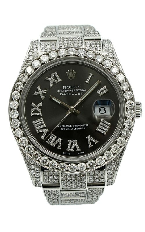 Pre-Owned Timepieces Rolex Date-Just 116300 Custom Case/Bezel/Dial 14.75CTW product image