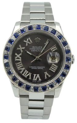 Pre-owned Rolex DateJust 116200 Custom Dia/Saph Bezel & Dia Dial product image