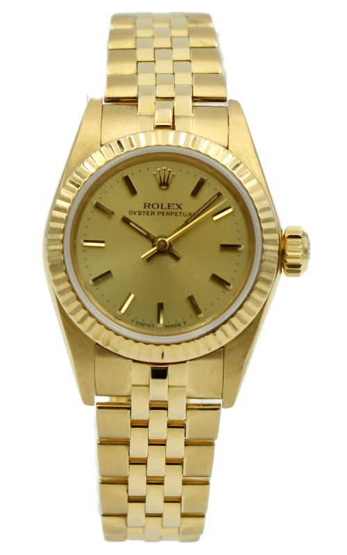 Pre-Owned Rolex Ladies Oyster Perpetual 67198 product image