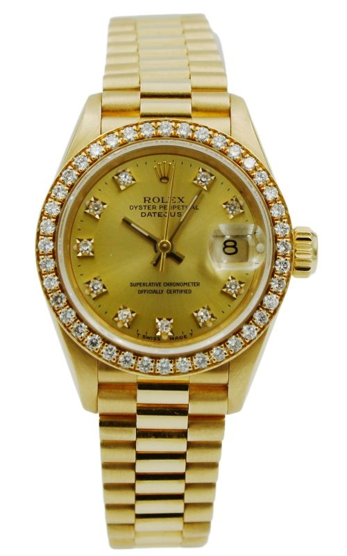 Pre-Owned Rolex Lady-DateJust 69178 Diamond Bezel & Markers product image