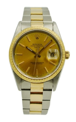 Pre-Owned Rolex Oyster Perpetual Date 15223 Champagne Dial product image