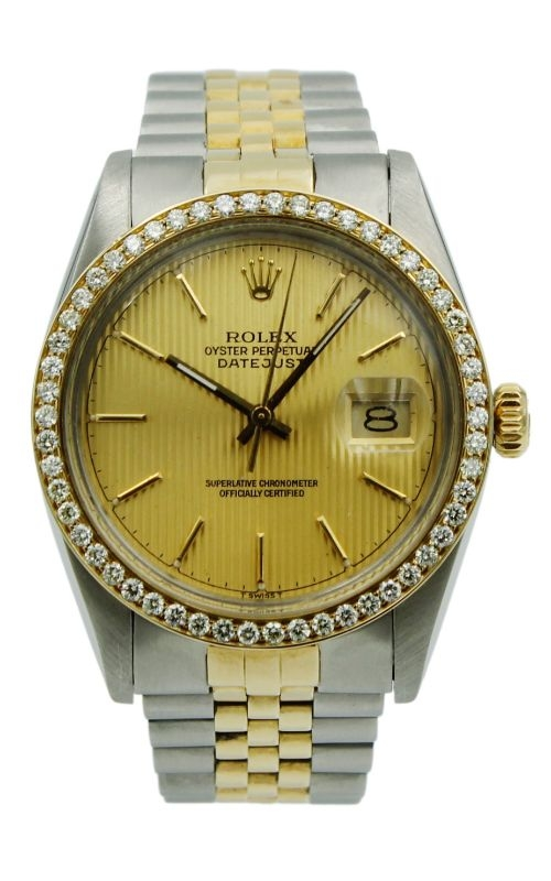 Pre-Owned Rolex DateJust 16013 Two-Tone & 1 ctw Diamond Bezel product image