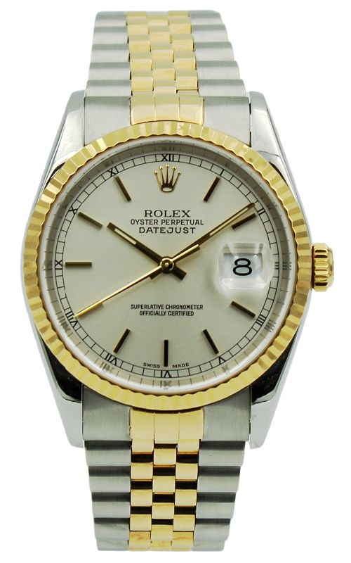 Pre-Owned Rolex DateJust 16233 Silver Dial product image