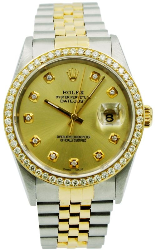 Pre-Owned Rolex DateJust 16233 1.25ctw Diamond Bezel & Markers product image
