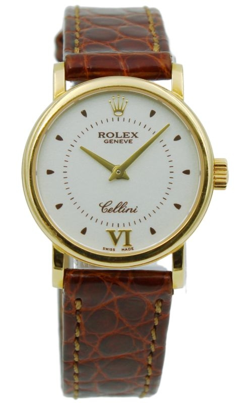 Pre-Owned Rolex Cellini 6110/8 18k Yellow Gold Quartz Watch product image