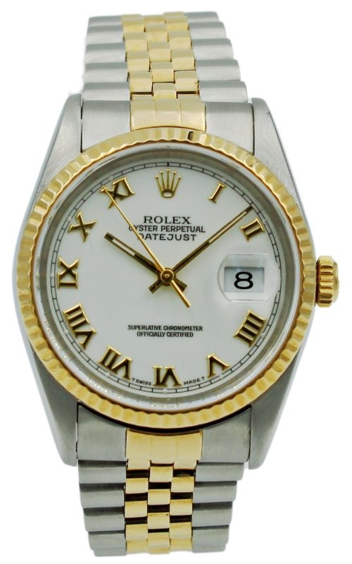 Pre-Owned Rolex DateJust 16233 White Roman Dial product image