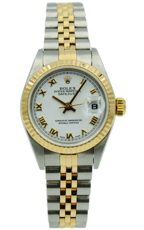 Pre-Owned Rolex Lady-DateJust R79173 Two-Tone & White Roman Dial product image