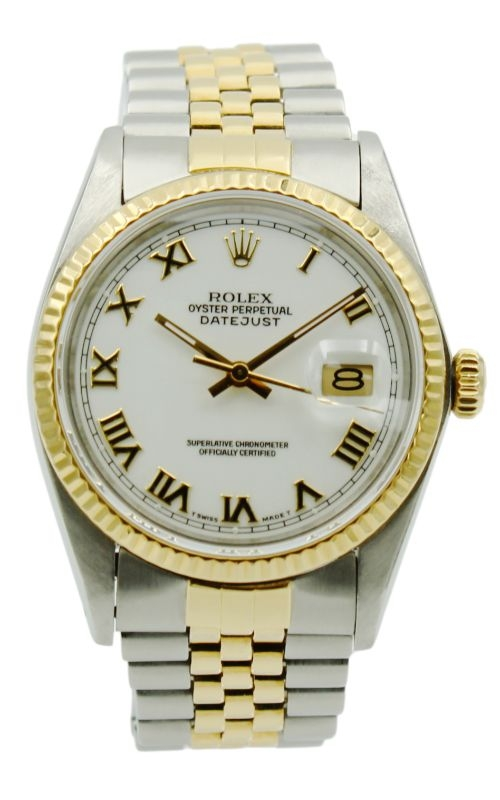 Pre-Owned Rolex DateJust 16233 Two-Tone & White Roman Dial product image