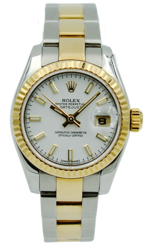 Preowned Rolex Lady-DateJust 179173 White Dial product image