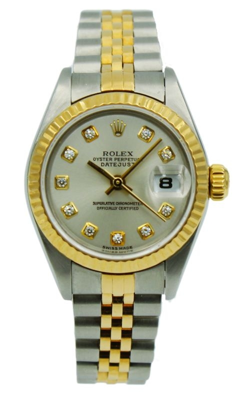 Pre-Owned Rolex Lady-DateJust 79173 Two-Tone Silver Dial & Diamond Markers product image
