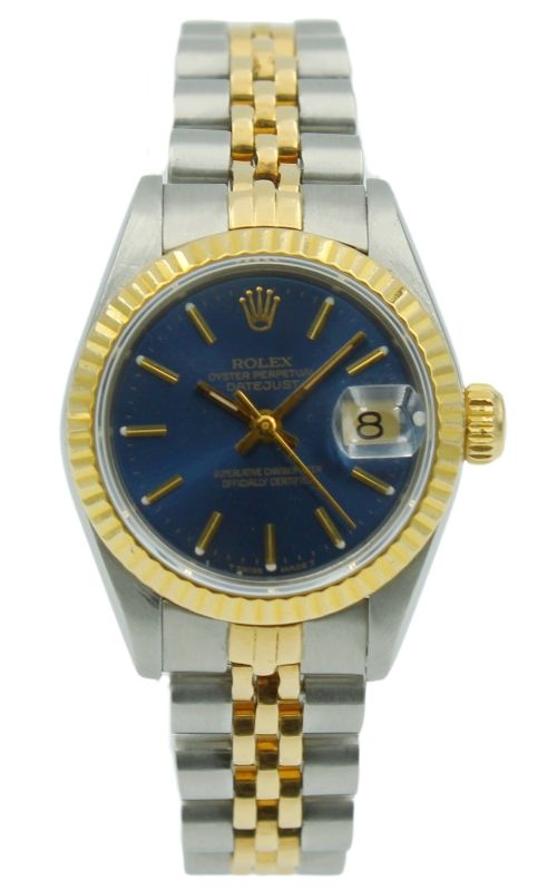 Pre-Owned Rolex Lady-DateJust 69173 26mm Blue Dial product image