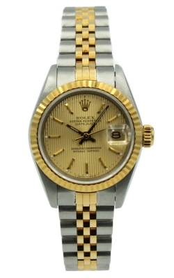 Pre-Owned Rolex Lady-DateJust 69173 Two-Tone & Champagne Dial product image