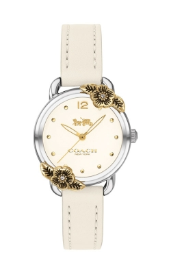 Coach Delancey White Leather Floral Watch 14503237 product image