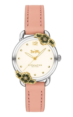 Coach Delancey Pink Leather Floral Watch 14503239 product image