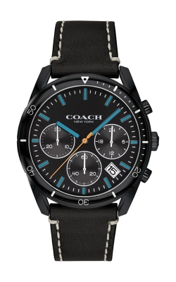 Coach Thompson Black Leather Chronograph Watch 14602412 product image