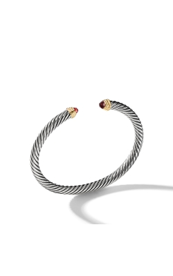 Cable Classics Bracelet With Garnet And Gold product image