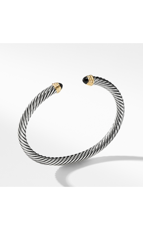 Cable Classics Collection® Bracelet with Black Onyx and 14K Gold product image