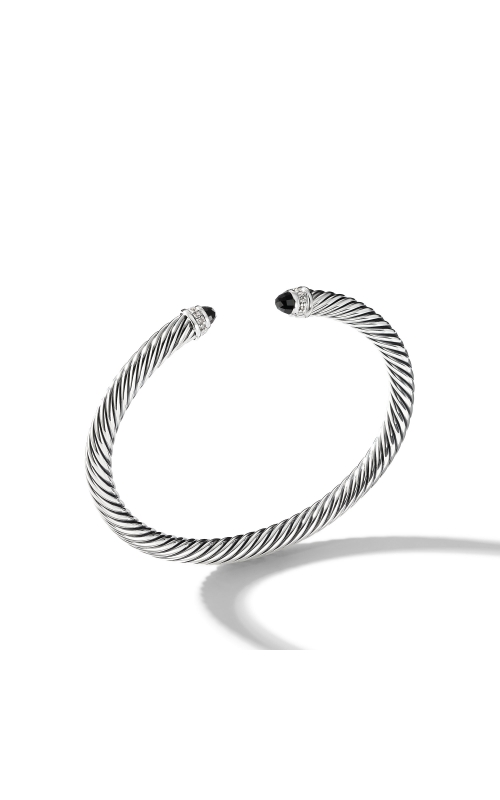Cable Classics Collection® Bracelet with Black Onyx and Diamonds product image
