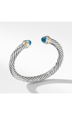 Cable Classics Collection® Bracelet with Blue topaz and 14K Gold product image