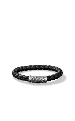 Chevron Rubber Weave Bracelet In Black product image