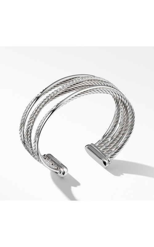 The Crossover Collection® Four-Row Cuff Bracelet with Diamonds product image