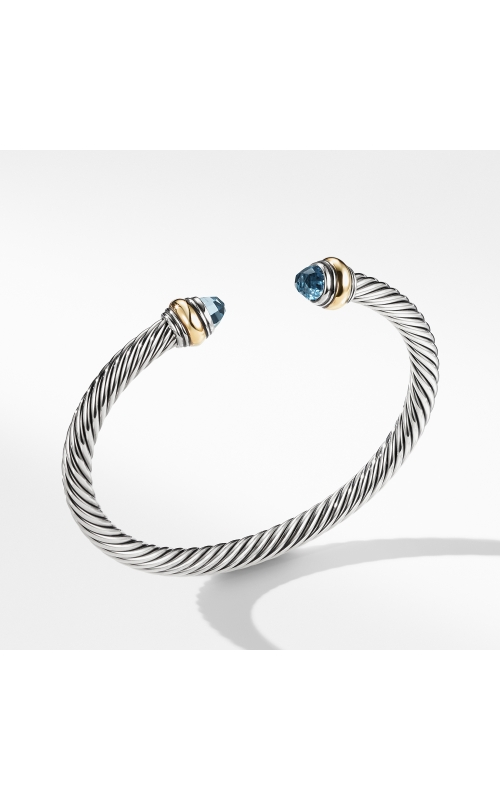 Cable Classic Bracelet with Blue Topaz and Gold product image
