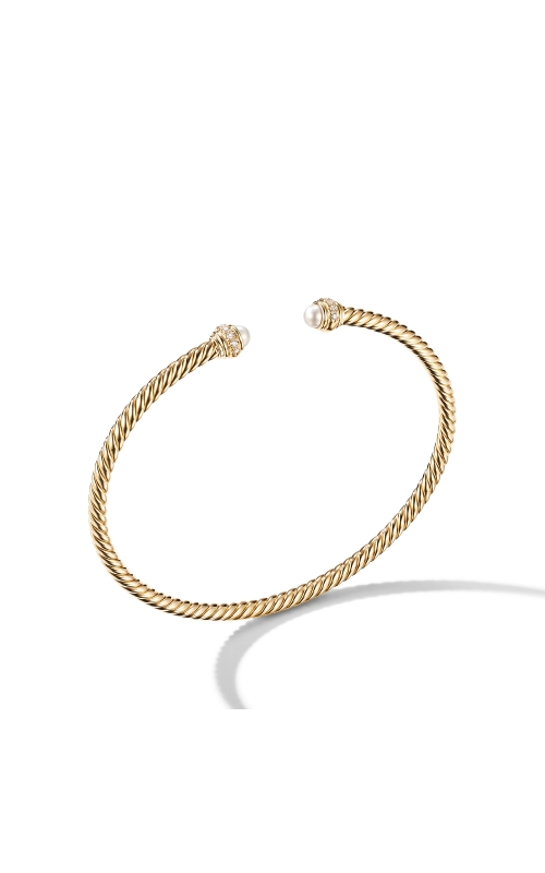 Cable Spira Bracelet in 18K Yellow Gold with Pearls and  Diamonds product image