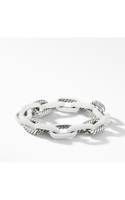 DY Madison® Chain Enamel Large Bracelet in White product image