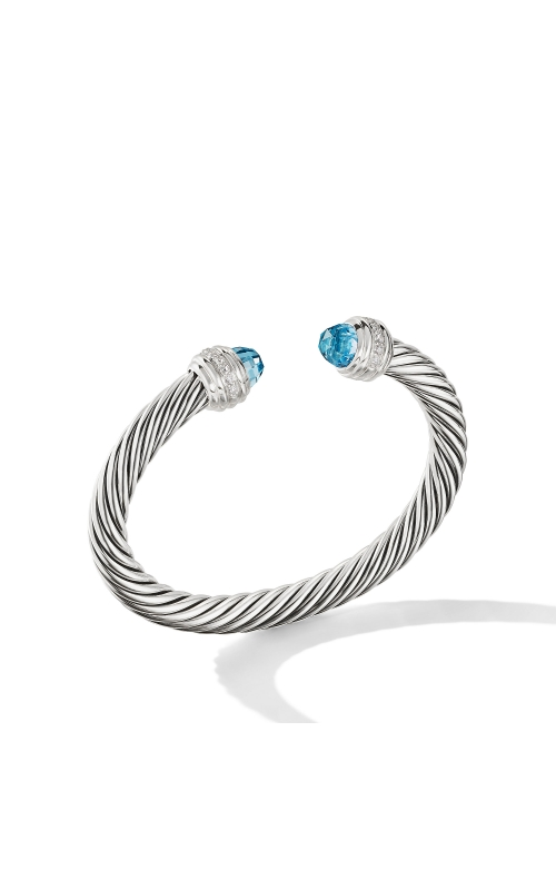 Cable Bracelet with Blue Topaz and Diamonds product image