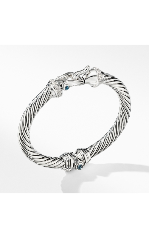 Cable Buckle Bracelet with Hampton Blue Topaz and Diamonds product image
