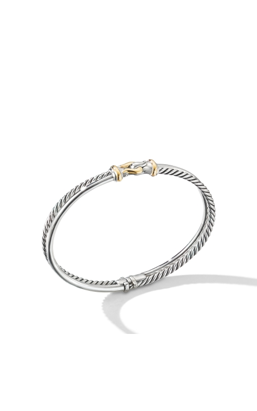 Two-Row Buckle Bracelet with 18K Yellow Gold product image