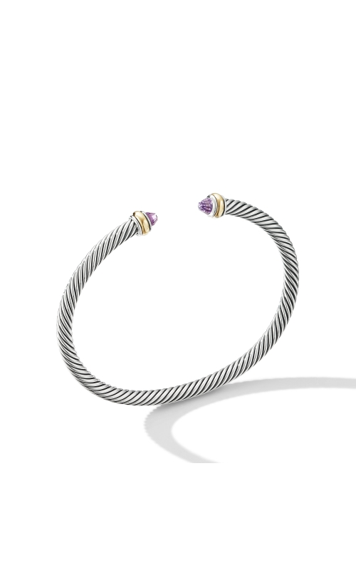 Cable Classic Bracelet with Amethyst and 18K Yellow Gold product image