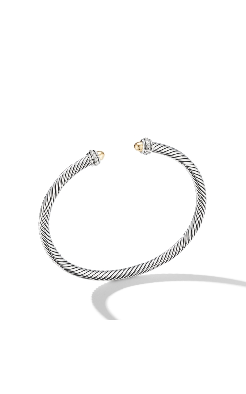 Cable Classic Bracelet with 18K Yellow Gold Domes and Diamonds product image