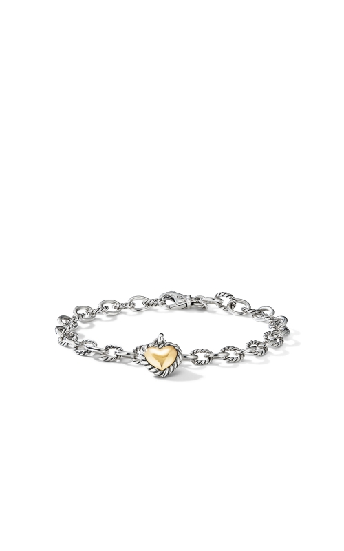 Cable Cookie Classic Heart Charm Bracelet with 18K Yellow Gold product image
