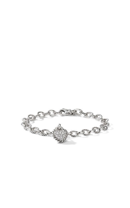 Cable Cookie Classic Heart Charm Bracelet  with Diamonds product image