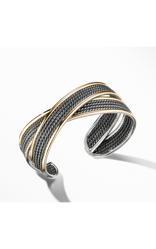 DY Origami Narrow Cuff Bracelet in Blackened Silver product image