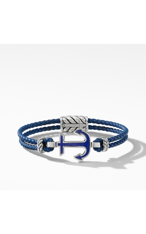 Maritime® Anchor Station Blue Leather Bracelet with Lapis product image
