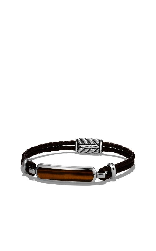 Station Brown Leather Bracelet with Tiger Eye product image