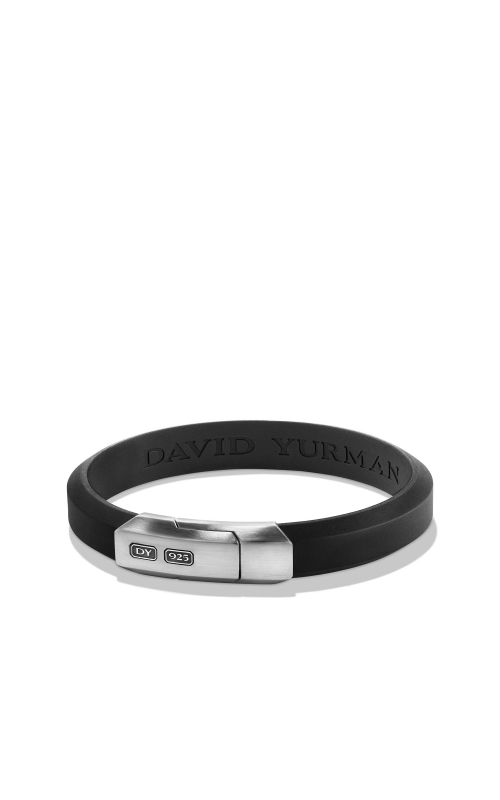 Streamline Rubber ID Bracelet in Black product image