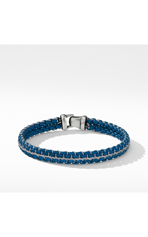 Woven Box Chain Bracelet in Navy product image