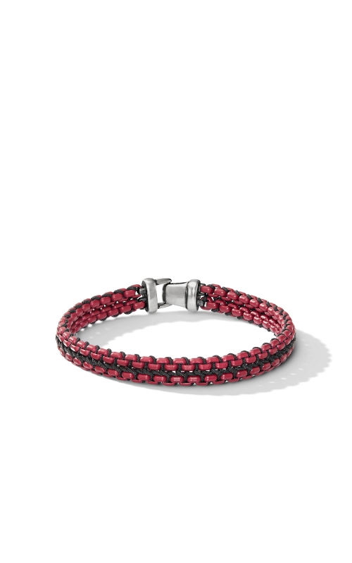 Woven Box Chain Bracelet in Burgundy product image