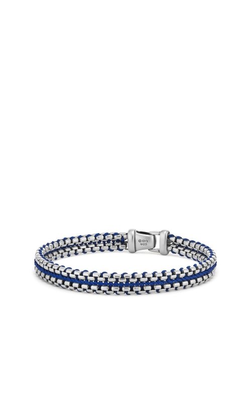 Woven Box Chain Bracelet in Blue product image