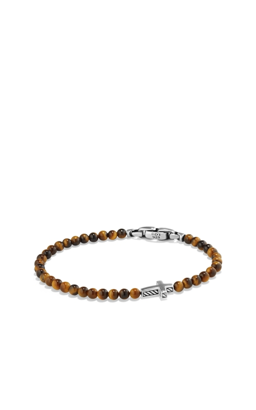 Spiritual Beads Cross Station Bracelet with Tigers Eye product image