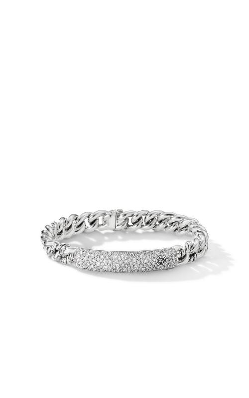 Belmont Curb Link ID Bracelet with Pavé Diamonds product image