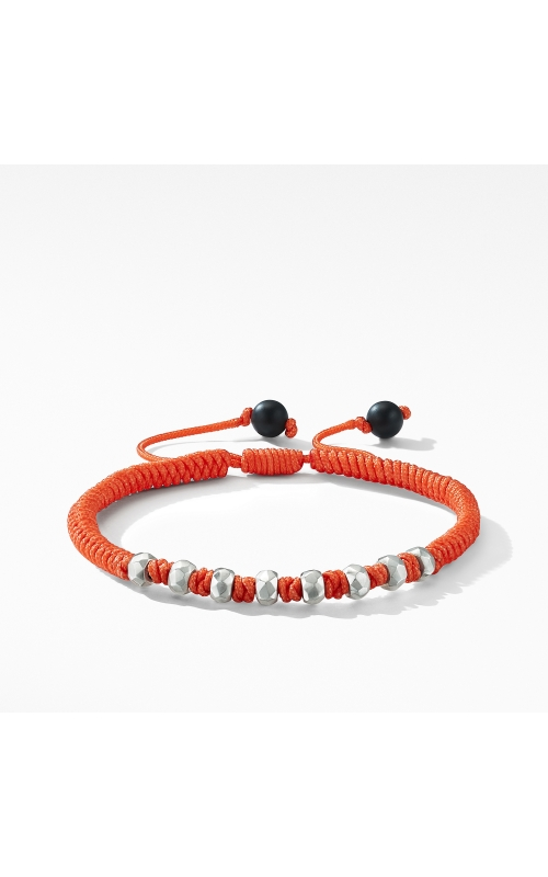 DY Fortune Woven Bracelet in Orange with Black Onyx product image