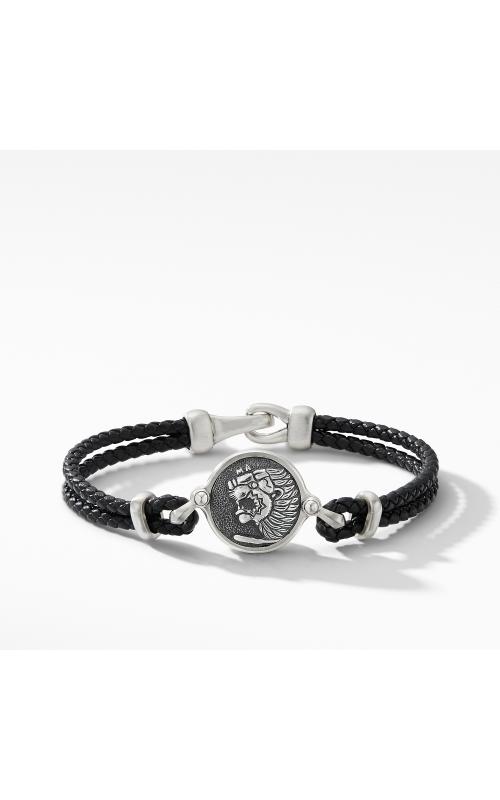 Petrvs Lion Black Leather Bracelet product image