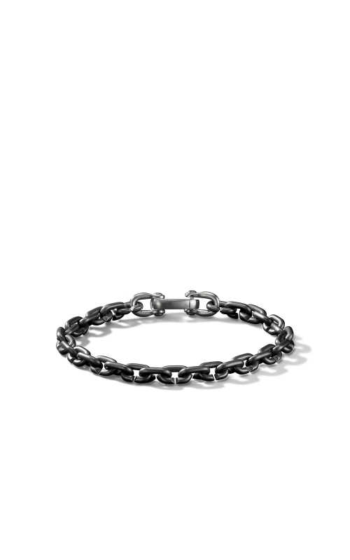 Chain Link Narrow Bracelet with Black Titanium product image