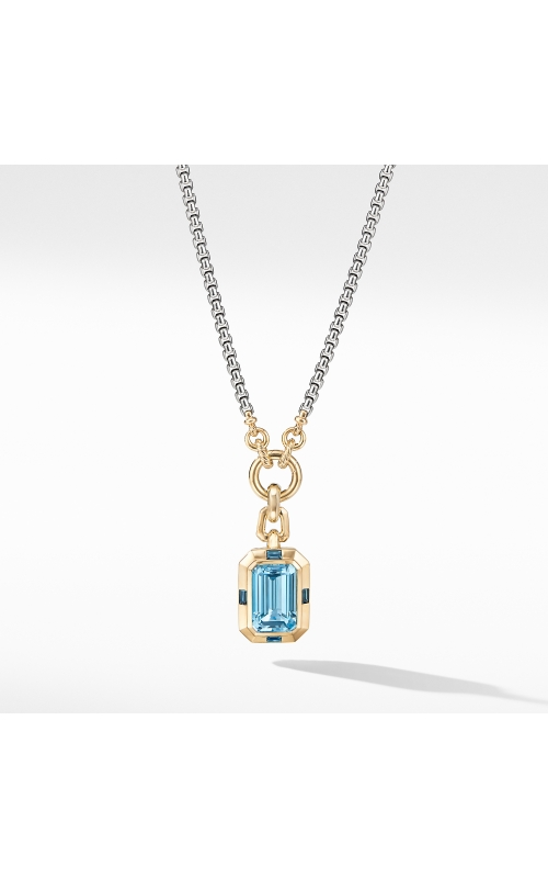 Novella Pendant with Blue Topaz and 18K Yellow Gold product image